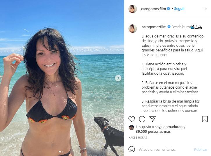 Carolina Gómez en bikini 2