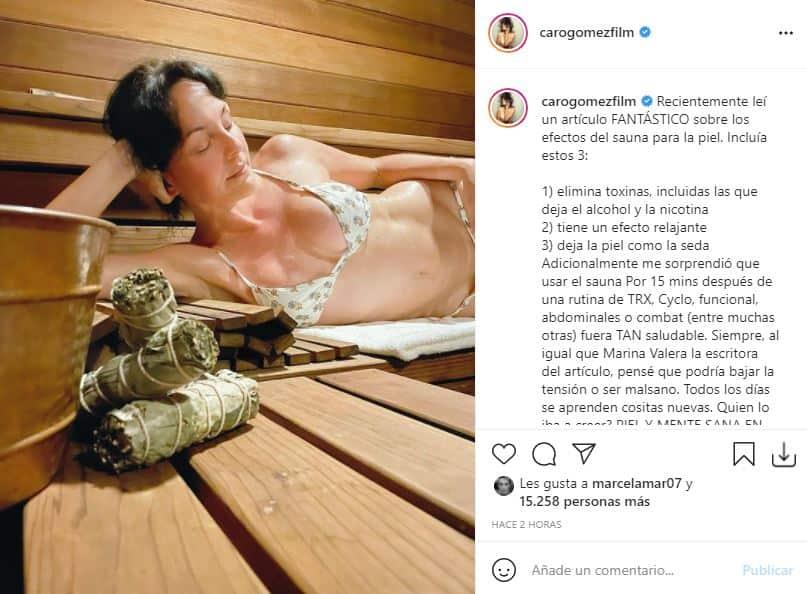 La foto de Carolina Gómez donde su abdomen enamoró a más de uno