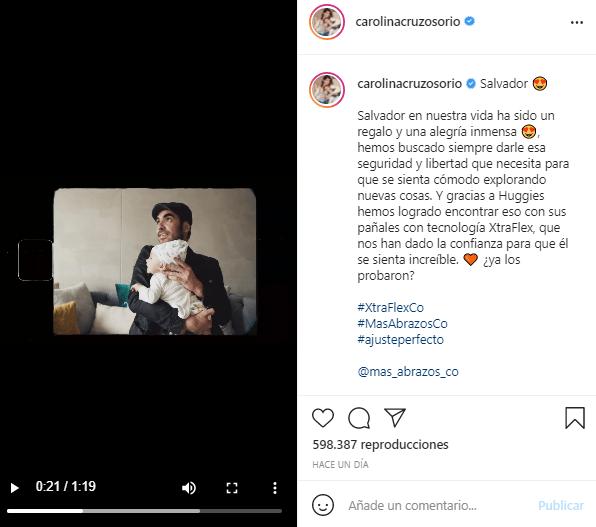 Video de Carolina Cruz con Lincoln