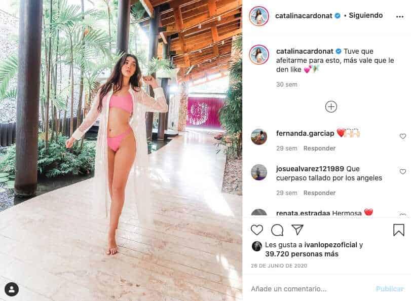 Catalina Cardona deslumbra con su cuerpo