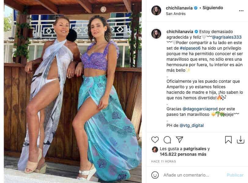 Chichila Navia y Amparo Grisales presumieron sus cuerpos con pocas prendas