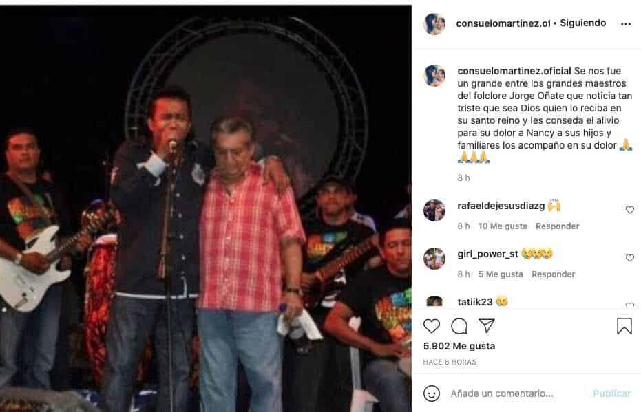 Consuelo Martínez despedida Jorge Oñate