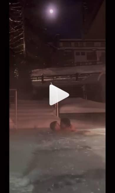 cristiano ronaldo y georgina rodriguez en piscina