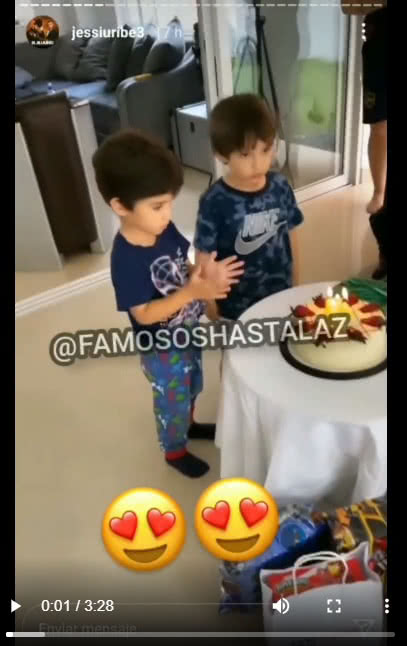 cumpleaños hijos de jessi uribe
