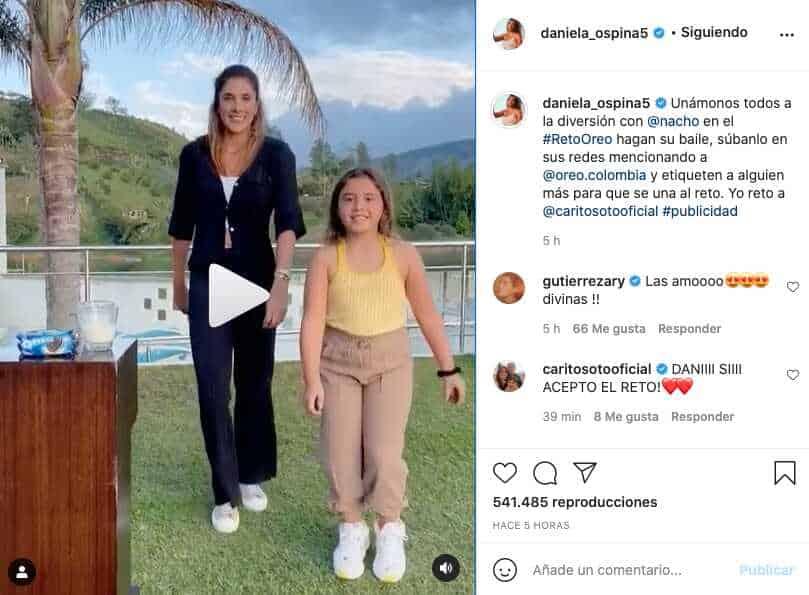 Daniela Ospina sube video bailando con Salomé y divide opiniones
