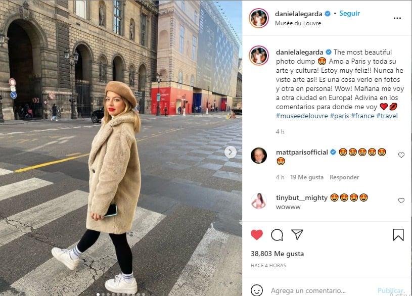Daniela Legarda y el viaje por Europa que la tiene enamorada