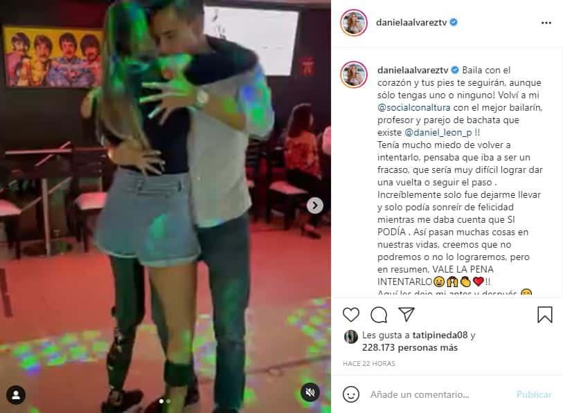 """""""Tenía miedo de volver a intentarlo"""": Daniella Álvarez volvió a bailar bachata"""