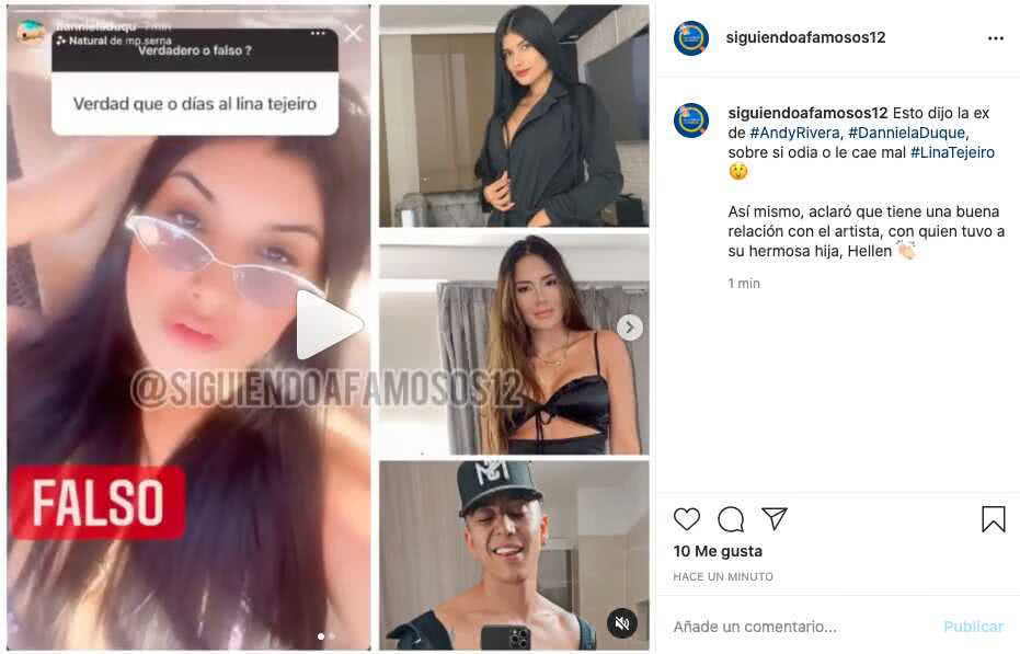 Ex de Andy Rivera revela si odia a Lina Tejeiro
