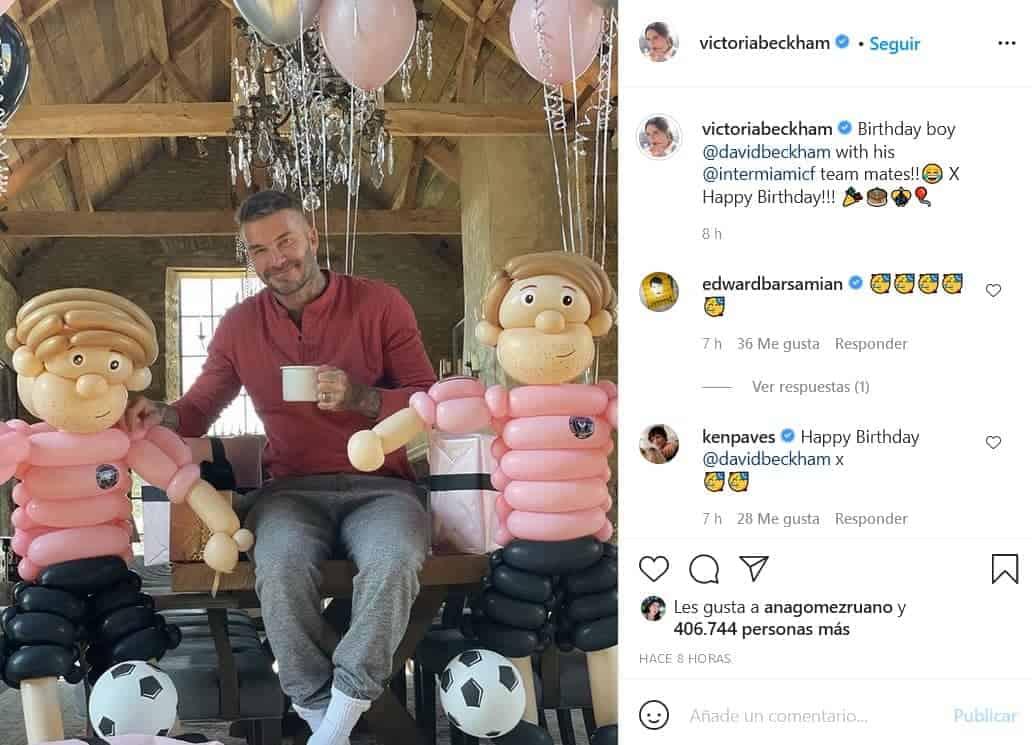 David Beckham y su regalo de cumpleaños