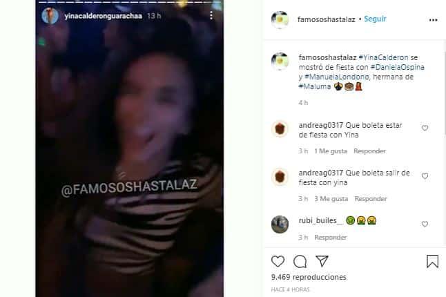 Daniela Ospina, fiesta