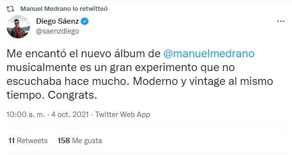 Manuel Medrano lanza su nuevo álbum: Eterno