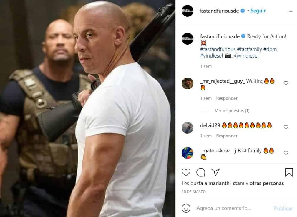 Vin Diesel actuará junto a su hijo en FF9