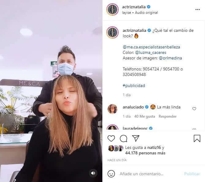 Natalia Ramírez cambia de look y fans le dicen que se ve muy joven