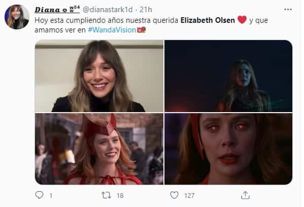 elizabeth olsen en su cumpleaños