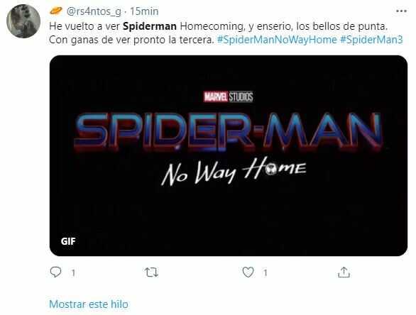 Emocionante revelación del nombre de la tercera entrega de Spider-Man