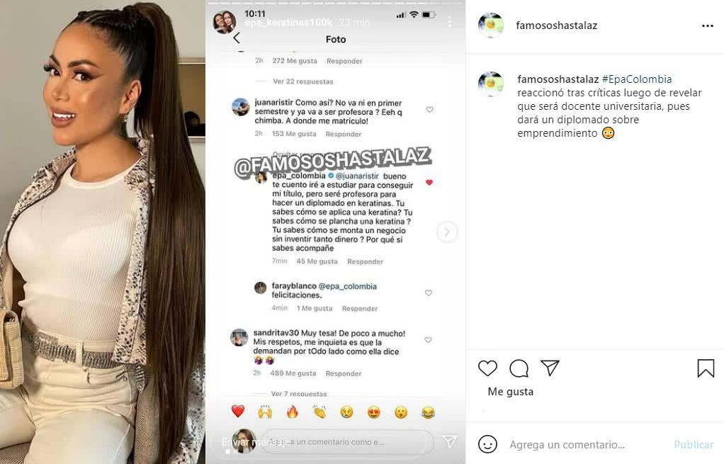 epa colombia responde a criticas por se docente universitaria