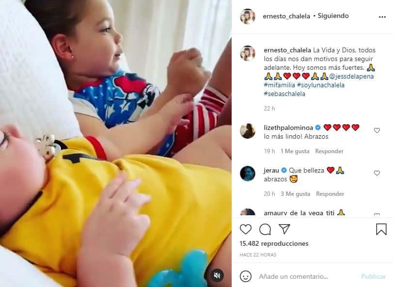 Esposo de Jessica De La Peña publica tierno momento de sus hijos