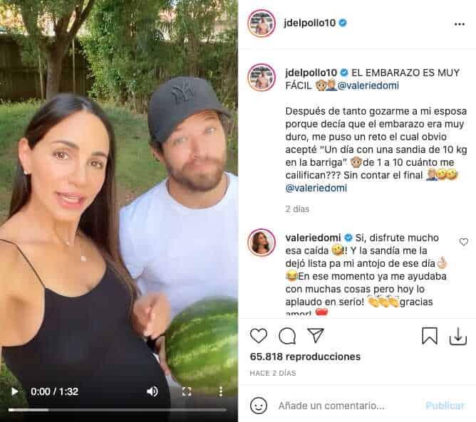 """Valerie Domínguez retó a su esposo para que se """"embarazara"""" por un día"""