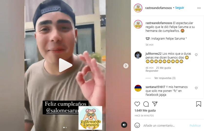 Felipe Saruma cumpleaños