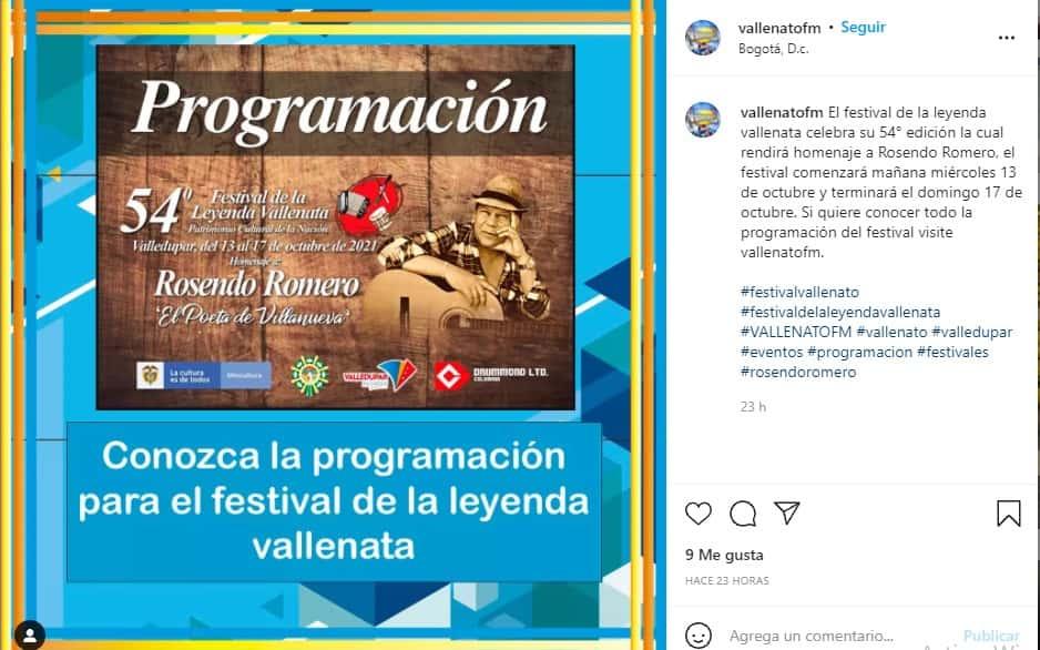 El Festival de la Leyenda Vallenata vuelve a sonar presencialmente