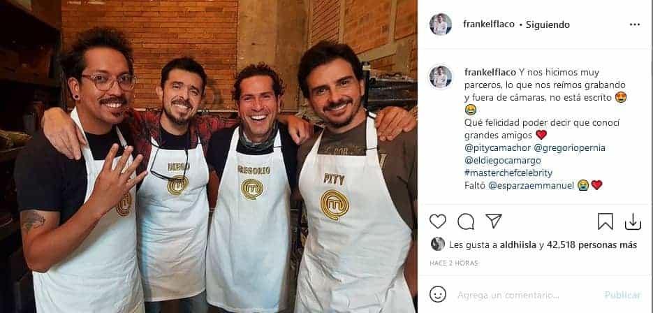 Frank Martínez y Pity Camacho en MasterChef Celebrity