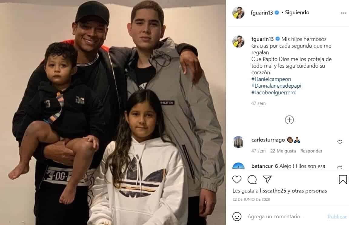 Fredy Guarín e hijos