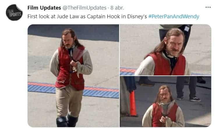 Jude Law interpretará al Capitán Garfio