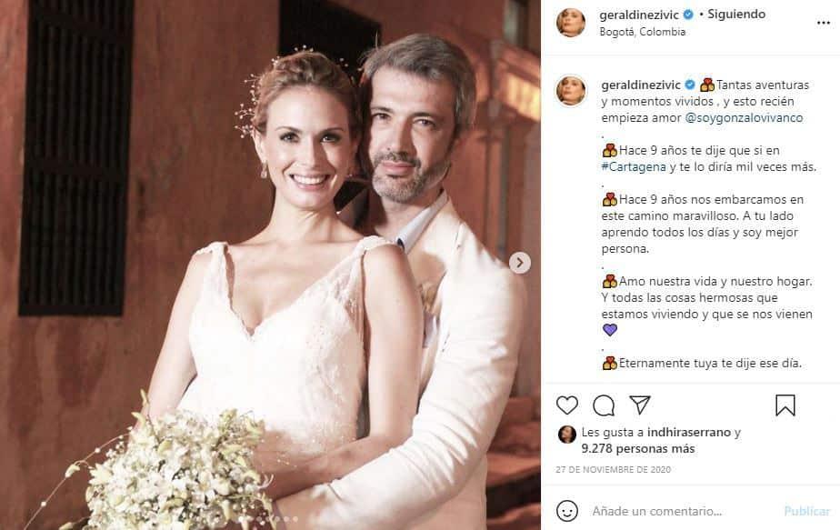 geraldine zivac con su esposo gonzalo vivanco