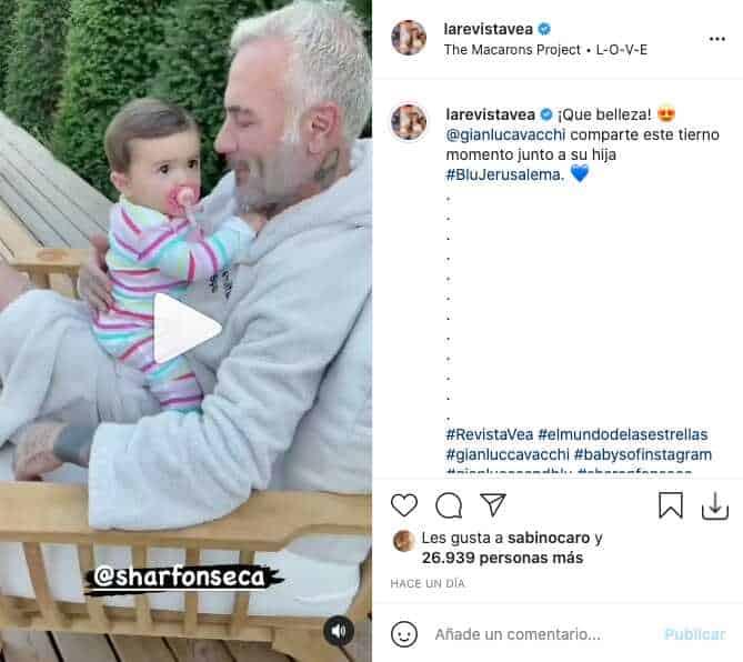 Gianluca Vacchi mostró tierno video junto a Blu Jerusalema