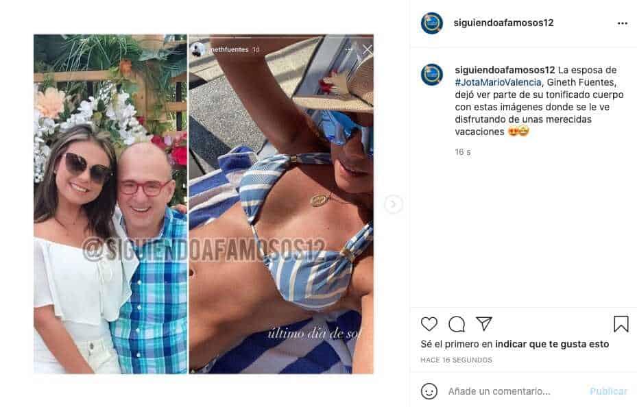Qué cuerpazo, esposa de Jota Mario Valencia enamoró con sus curvas