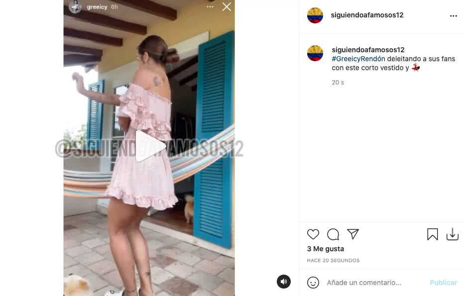 Greeicy Rendón deleitó a más de uno bailando con corto vestido