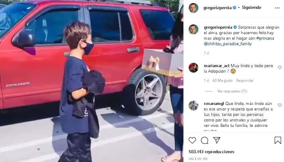 Gregorio Pernía y su hijo