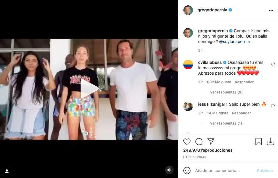 Gregorio Pernía comparte atractivo baile junto a su hija
