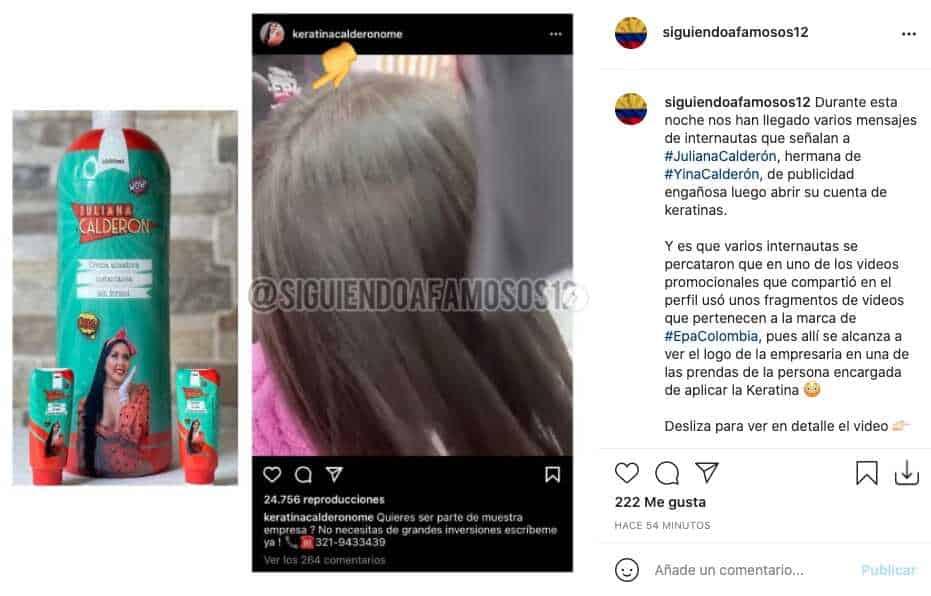 Hermana de Yina Calderón acusada de falsa publicidad por usar video de Epa Colombia