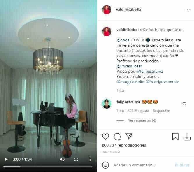 Hija de Andrea Valdiri sorprendió con cover de Nodal