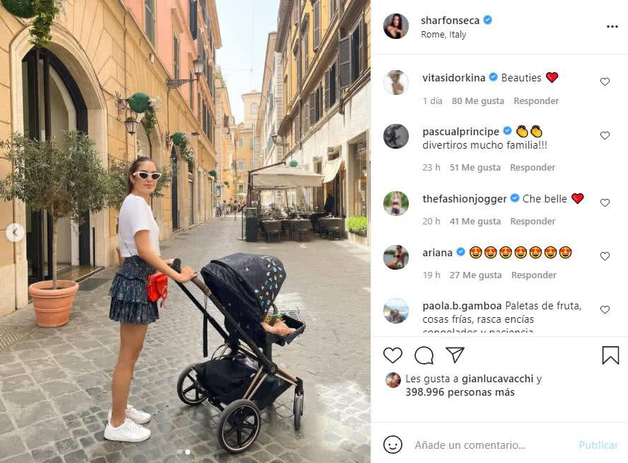 hija de gianluca vacchi en roma