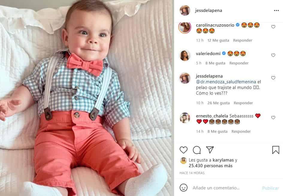 seis meses de hijo de jessica de la peña