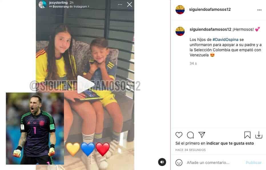 Copa América 2021: hijos de David Ospina mostraron su apoyo uniformándose con la Tricolor
