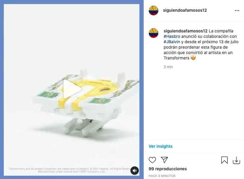 J Balvin se unió con reconocida marca para crear su propio Transformers