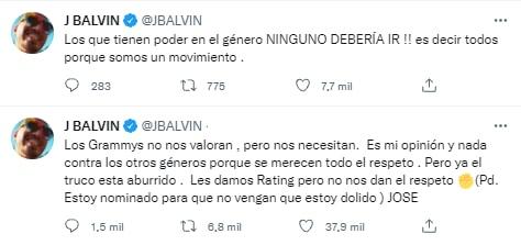 j balvin latin grammy 2021