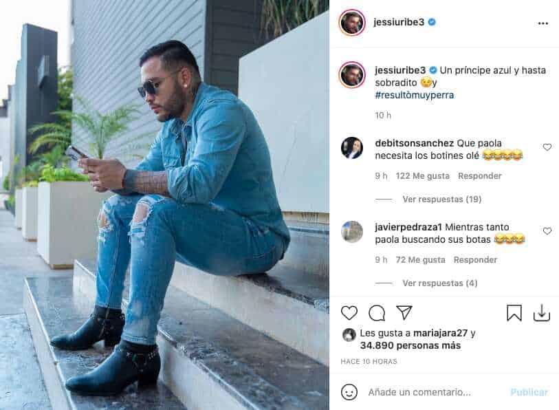 Jessi Uribe recibió algunas burlas por botas que parecían de Paola Jara