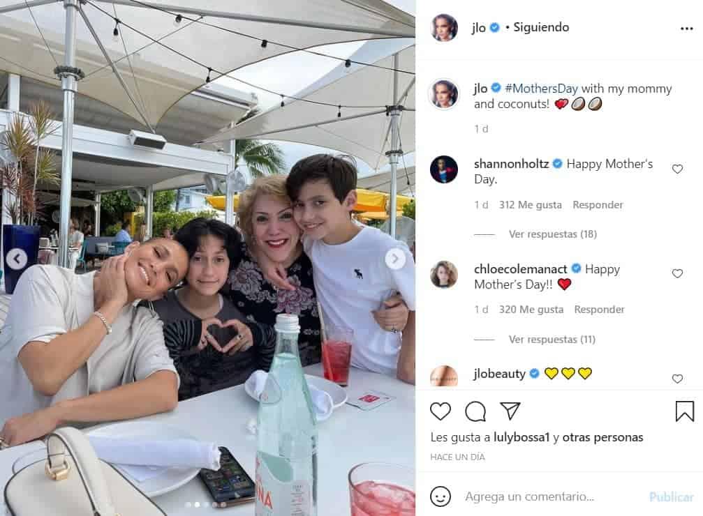JLo y su familia