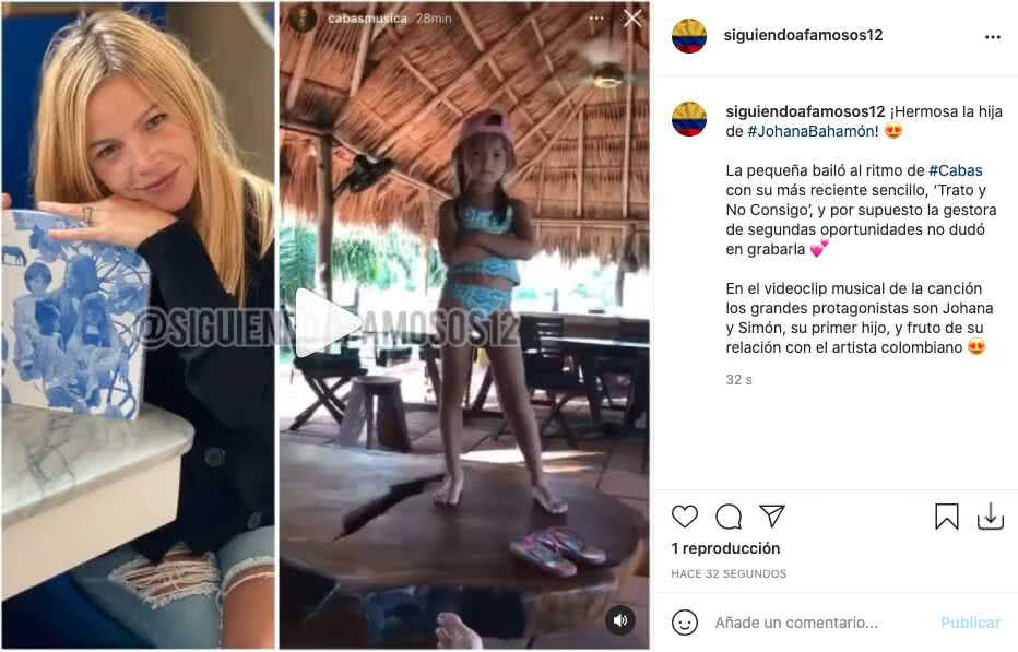 Johana Bahamón grabó tierno clip de su hija bailando al ritmo de Cabas