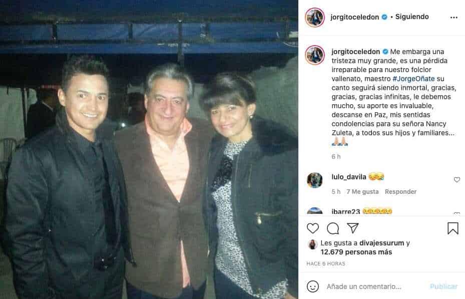 Jorge Celedón despedida Jorge Oñate