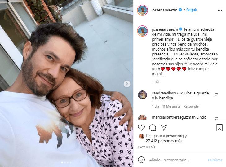 Josse Narváez cumpleaños mamá