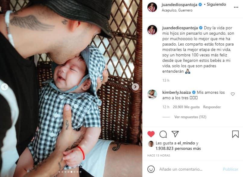 juan de dios pantoja con su hijo tras dos meses de nacido