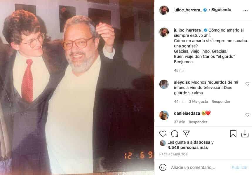 Así reaccionó Julio César Herrera ante la partida del Gordo Benjumea