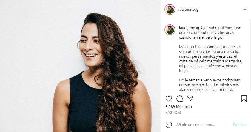 Laura Junco cabello largo