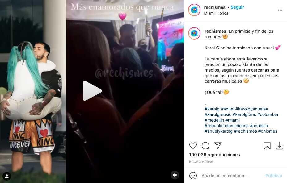 Nunca terminaron, este video confirmaría que Karol G y Anuel AA siguen juntos