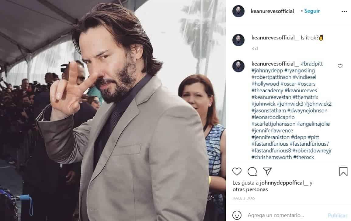 Keanu Reeves, actor de origen canadiense.